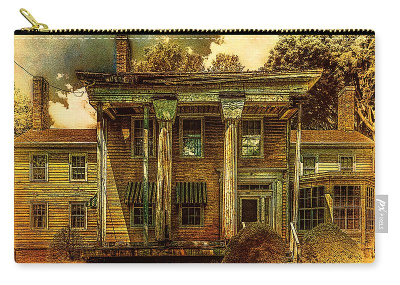 House Carry-all Pouch featuring the photograph The Greek Revival That Needs Revival by Chris Lord