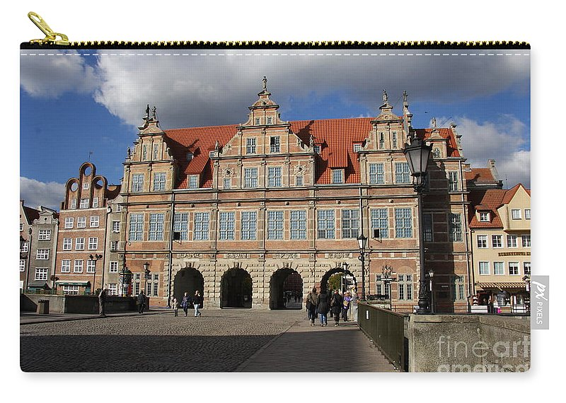 Green Gate Carry-all Pouch featuring the photograph The Green Gate - Gdansk by Christiane Schulze Art And Photography