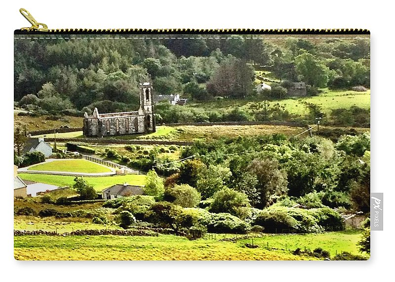 Poisoned Glen Carry-all Pouch featuring the photograph The Green Valley Of Poisoned Glen by Charlie and Norma Brock