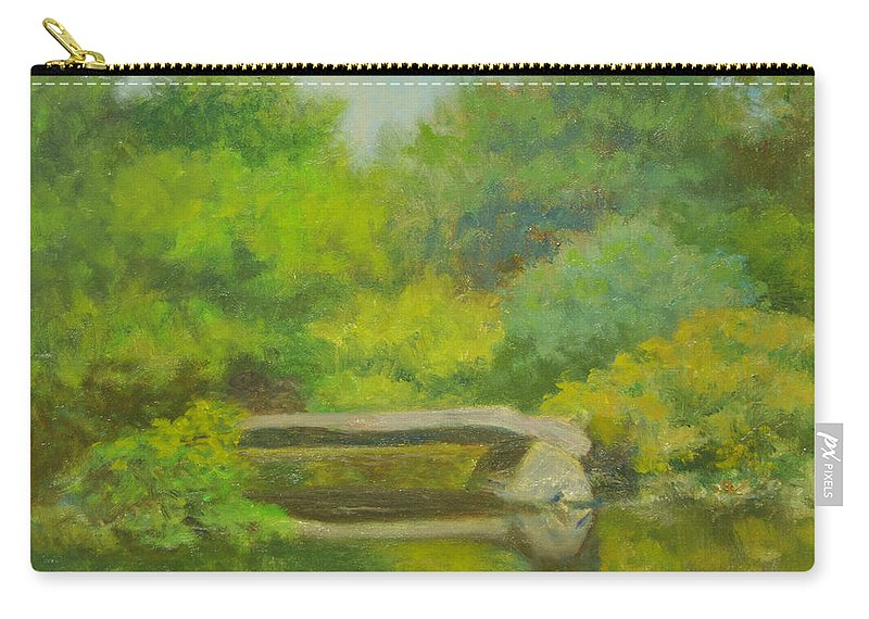 Landscape Carry-all Pouch featuring the painting The Greens Of Summer by Phyllis Tarlow