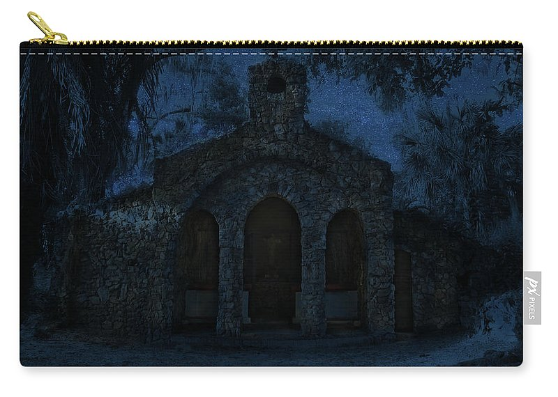 Phil Carry-all Pouch featuring the photograph The Grotto By Moonlight by Phil Penne