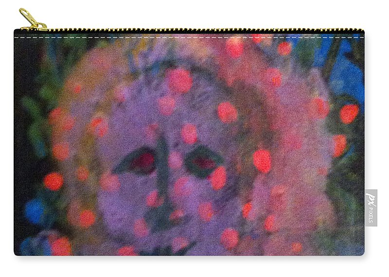 Paintings Carry-all Pouch featuring the painting The Guardian by Catherine Helmick