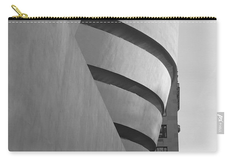 Scenic Carry-all Pouch featuring the photograph The Guggenheim In Black And White by Rob Hans