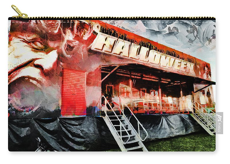 Halloween Carry-all Pouch featuring the photograph The Halloween Ride by Steve Taylor