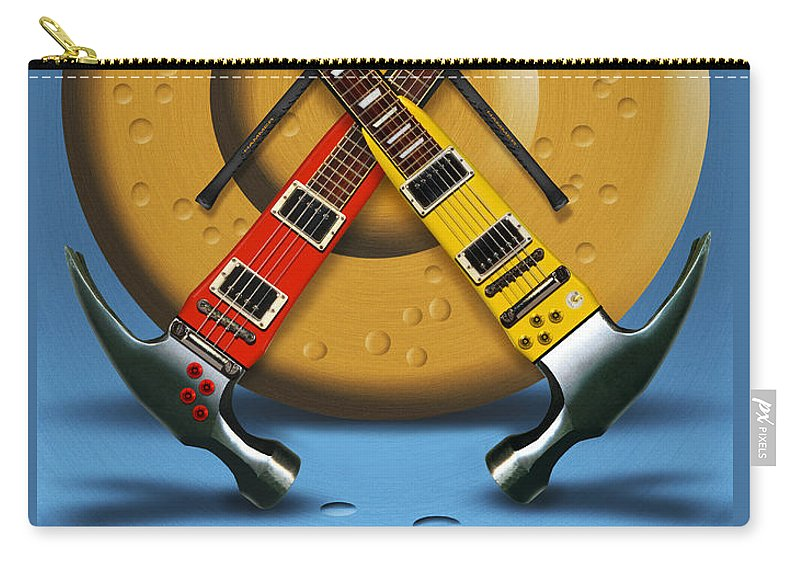 Rock And Roll Carry-all Pouch featuring the photograph The Hammer by Mike McGlothlen