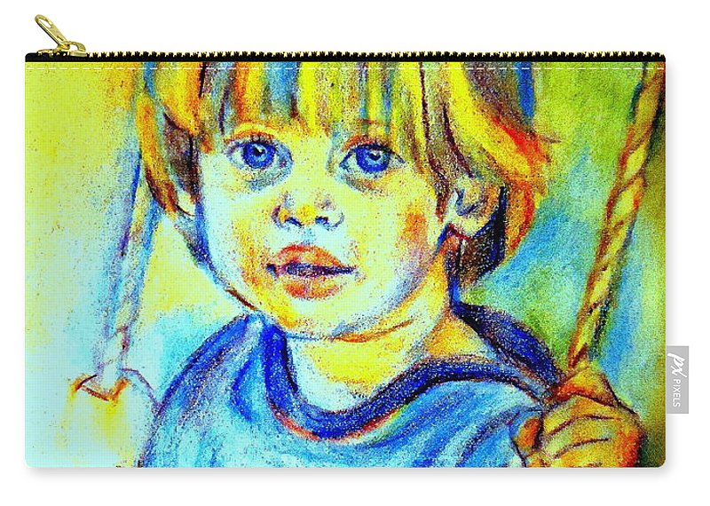 Child Carry-all Pouch featuring the drawing The Hammock by Helena Wierzbicki