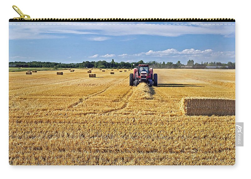 Landscape Carry-all Pouch featuring the photograph The Harvest by Keith Armstrong