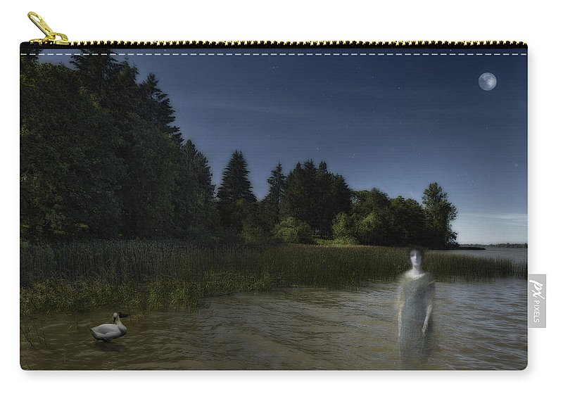 Ghost Carry-all Pouch featuring the photograph The Haunting by Belinda Greb