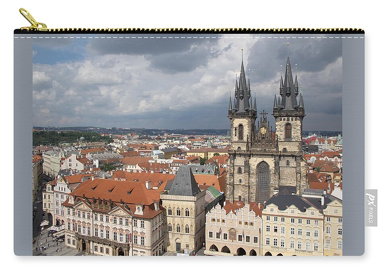 Prague Carry-all Pouch featuring the photograph The Heart Of Old Town by Ann Horn