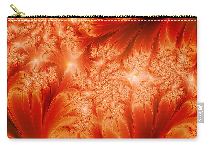 Abstract Carry-all Pouch featuring the digital art The Heat Of The Sun by Gabiw Art
