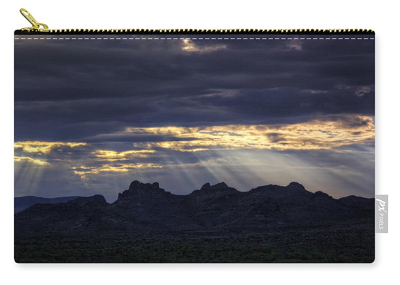 Sunrise Carry-all Pouch featuring the photograph The Heavenly Light by Saija Lehtonen