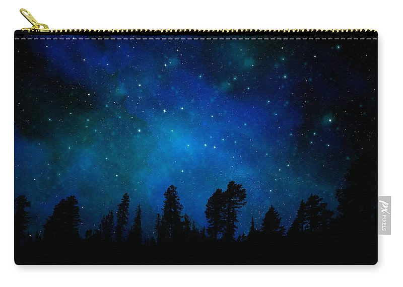 The Heavens Are Declaring Gods Glory Carry-all Pouch featuring the painting The Heavens Are Declaring Gods Glory Mural by Frank Wilson