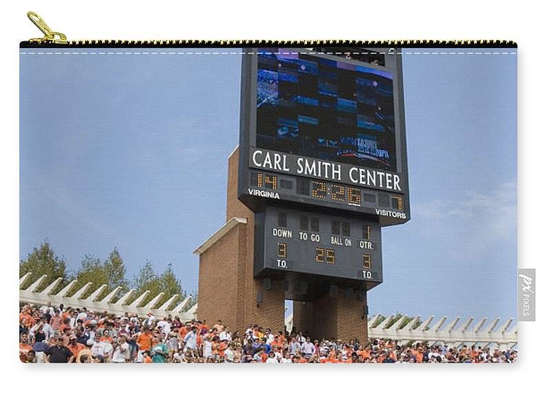 University Of Virginia Carry-all Pouch featuring the photograph The Hill At Scott Stadium Uva by Jason O Watson