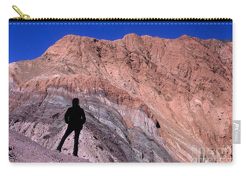 Argentina Carry-all Pouch featuring the photograph The Hill Of Seven Colours Jujuy Argentina by James Brunker