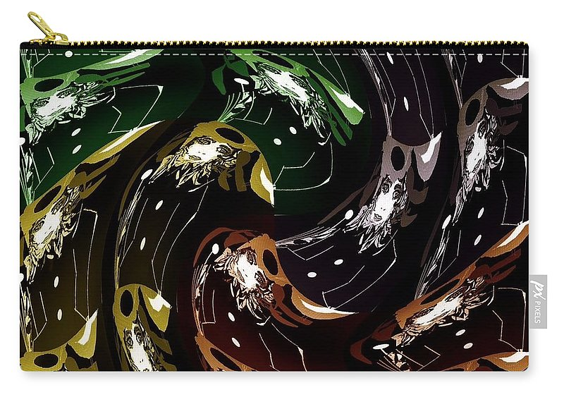 Fashion Carry-all Pouch featuring the digital art The History Of Fashion by Ann Calvo