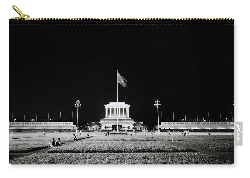 Asia Carry-all Pouch featuring the photograph The Ho Chi Minh Mausoleum In Hanoi by Shaun Higson