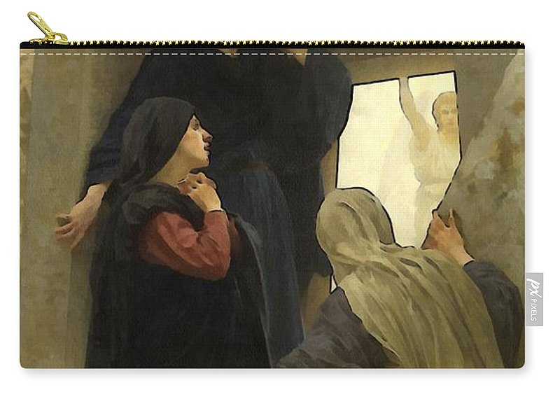 William Bouguereau Carry-all Pouch featuring the digital art The Holy Women At The Tomb by William Bouguereau