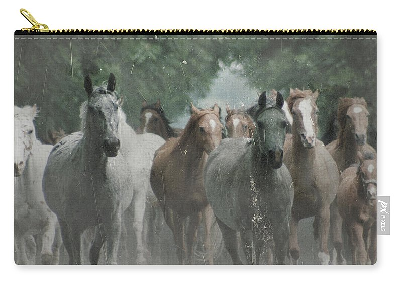 Arabian Carry-all Pouch featuring the photograph The Horsechestnut Tree Avenue by Angel Tarantella