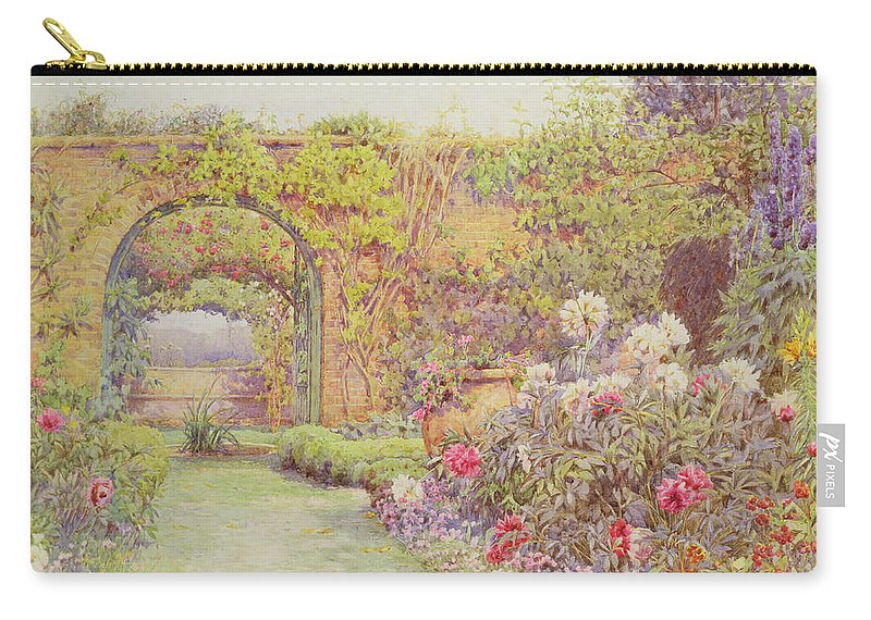 Herbaceous Border Carry-all Pouch featuring the painting The Hotel Belvedere, Lacerla by Ernest Arthur Rowe