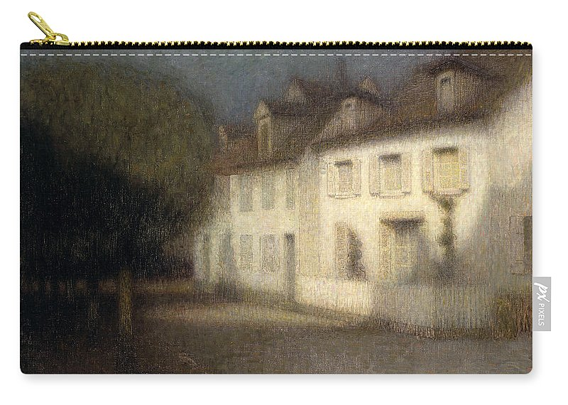 Post-impressionist Carry-all Pouch featuring the painting The House by Henri Eugene Augstin Le Sidaner