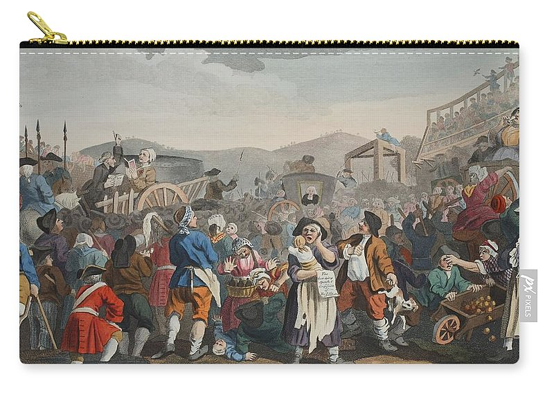Hearse Carry-all Pouch featuring the drawing The Idle Prentice Executed At Tyburn by William Hogarth