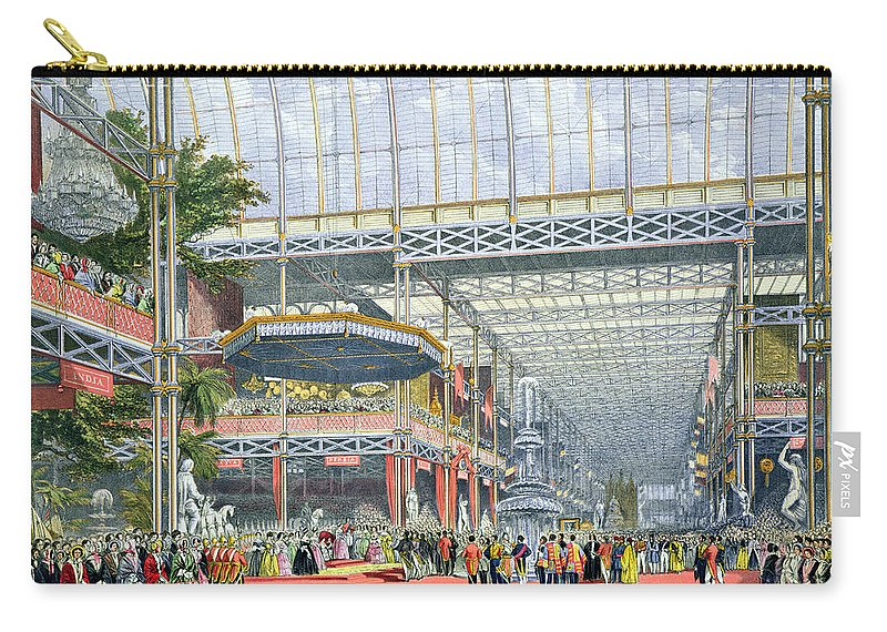 Crystal Palace Carry-all Pouch featuring the drawing The Inauguration, From Dickinsons by English School