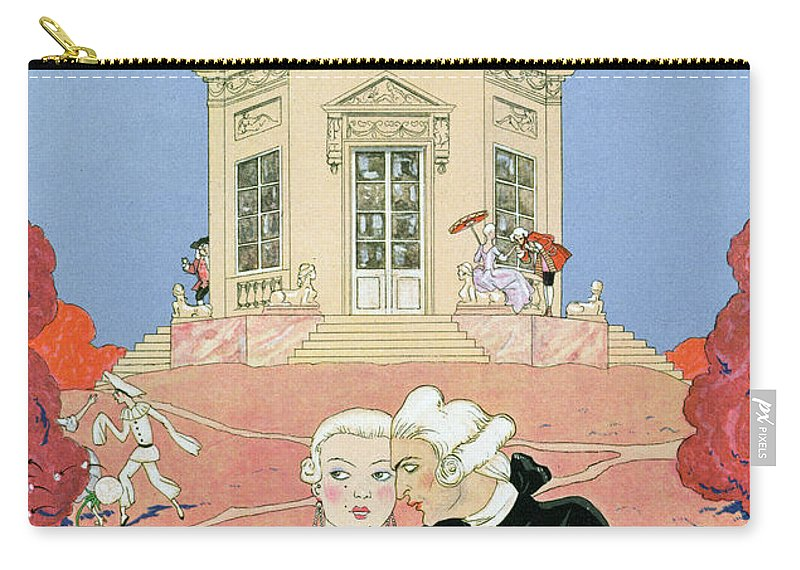 Male Carry-all Pouch featuring the painting The Indolents by Georges Barbier