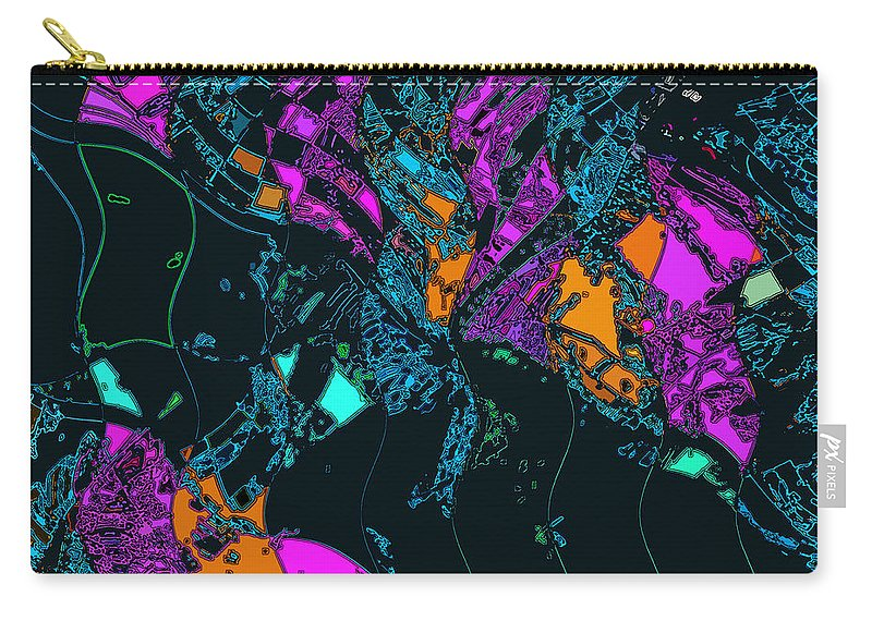 Abstarct Carry-all Pouch featuring the photograph The Intricacies Of A Blossom by David Pantuso