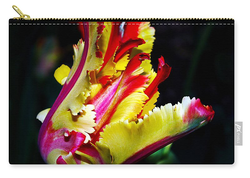 Flower Photography Carry-all Pouch featuring the photograph The Intruder by Patricia Griffin Brett