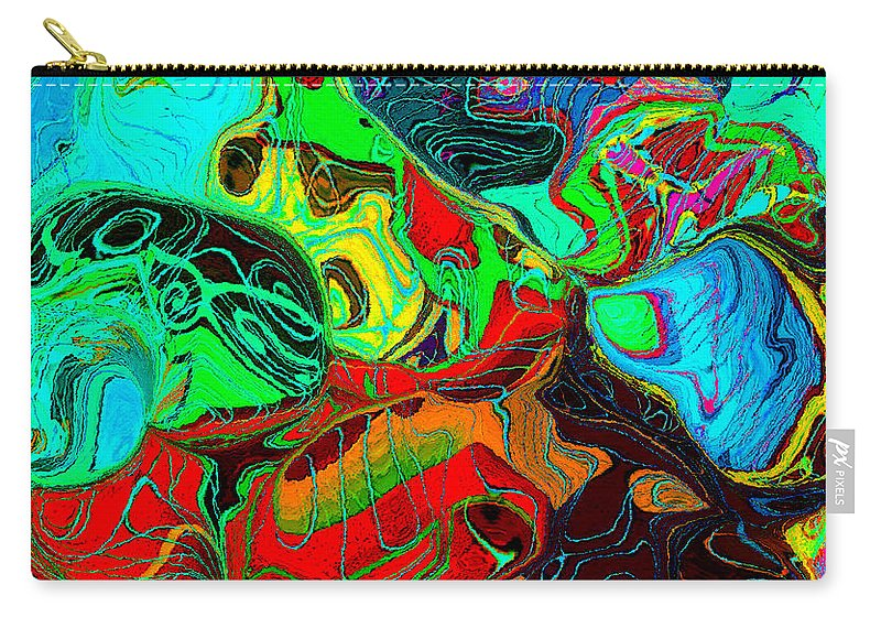Abstract Art Carry-all Pouch featuring the painting The Invention Of Color by David Lee Thompson