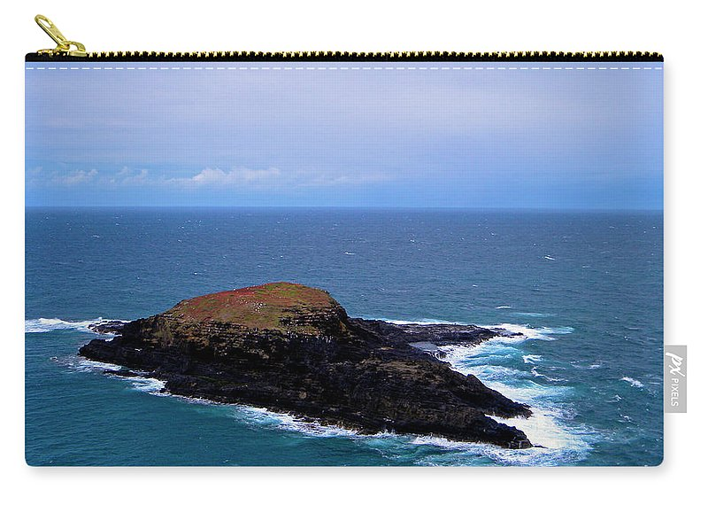 Frank Wilson Carry-all Pouch featuring the photograph The Island by Frank Wilson