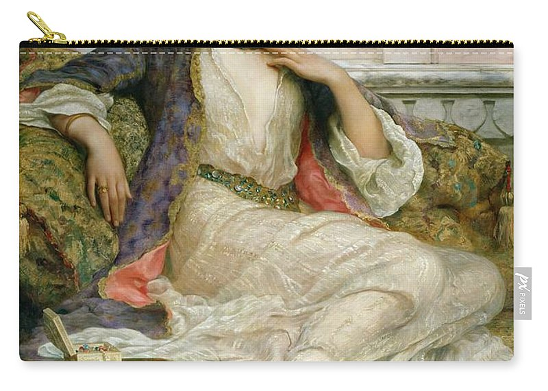 Hat Carry-all Pouch featuring the painting The Jade Necklace, 1908 by William Clark Wontner