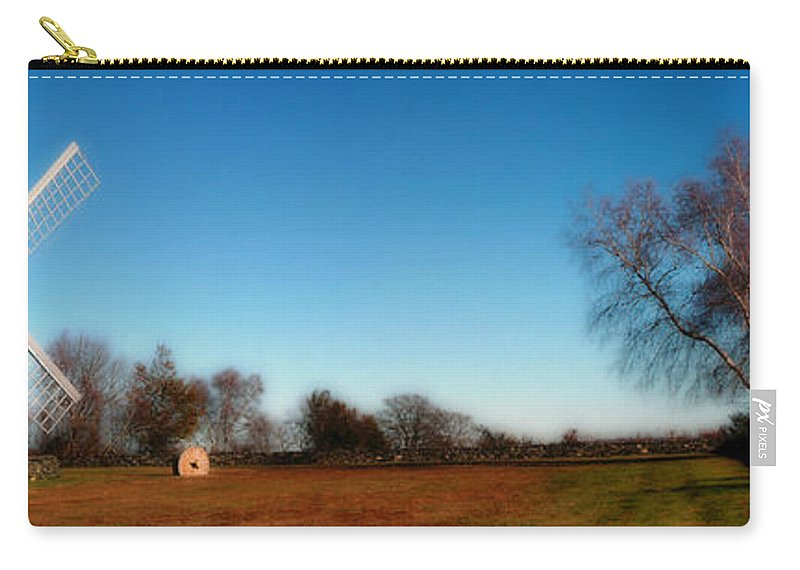 Jamestown Carry-all Pouch featuring the photograph The Jamestown Windmill by Mike Nellums