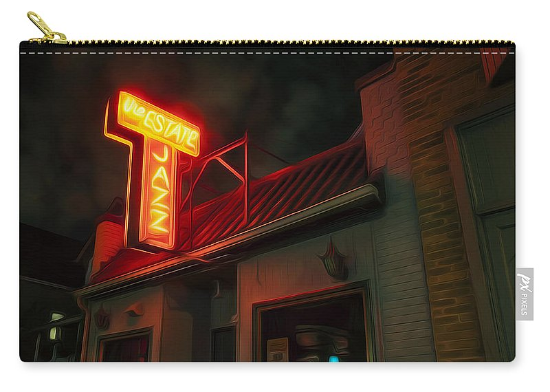 Jazz Carry-all Pouch featuring the digital art The Jazz Estate by Scott Norris