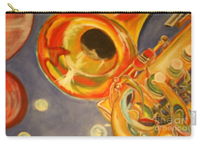 Wind Instrument Carry-all Pouch featuring the painting The Jazz Horn by Raymond Sellers