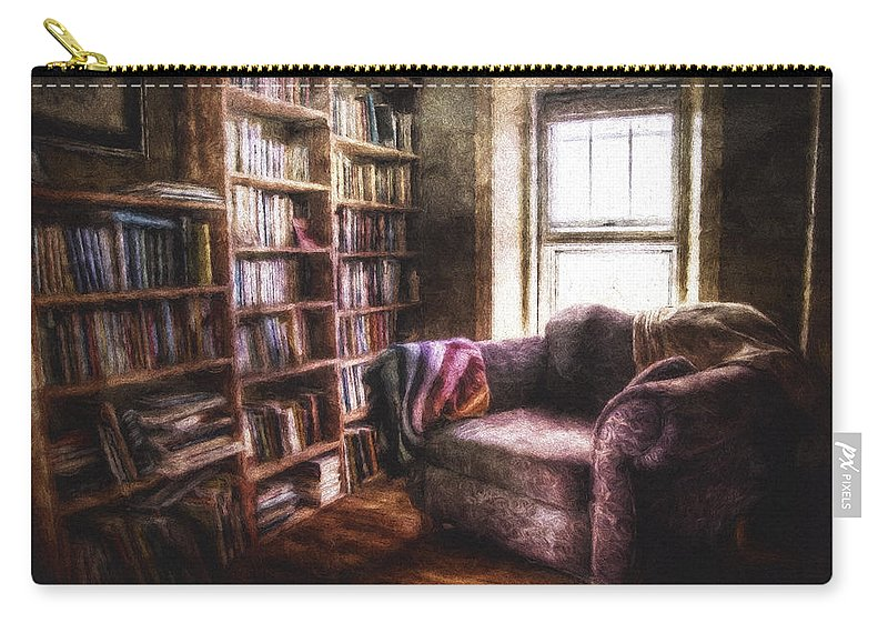 Interior Photography Carry-all Pouch featuring the photograph The Joshua Wild Room by Scott Norris