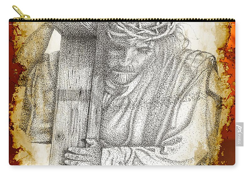 Prophetic Painting Digital Art Photographs Carry-all Pouch featuring the digital art The Journey by Mayhem Mediums
