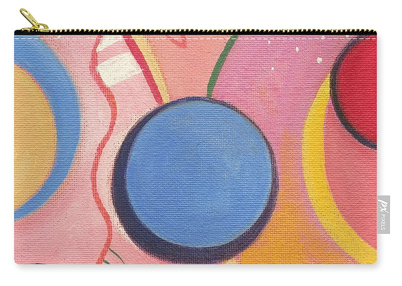 Nature Carry-all Pouch featuring the painting The Joy Of Design X V I I by Helena Tiainen