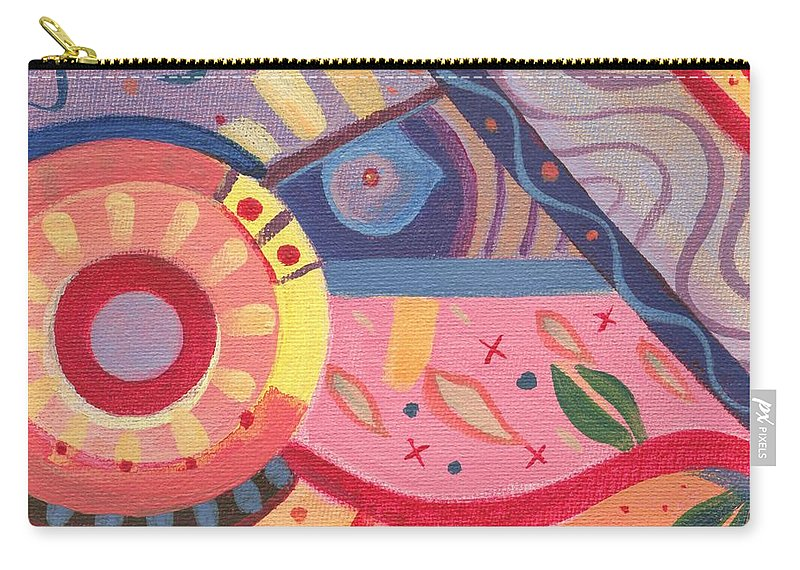 Abstract Carry-all Pouch featuring the painting The Joy Of Design X V I I I by Helena Tiainen