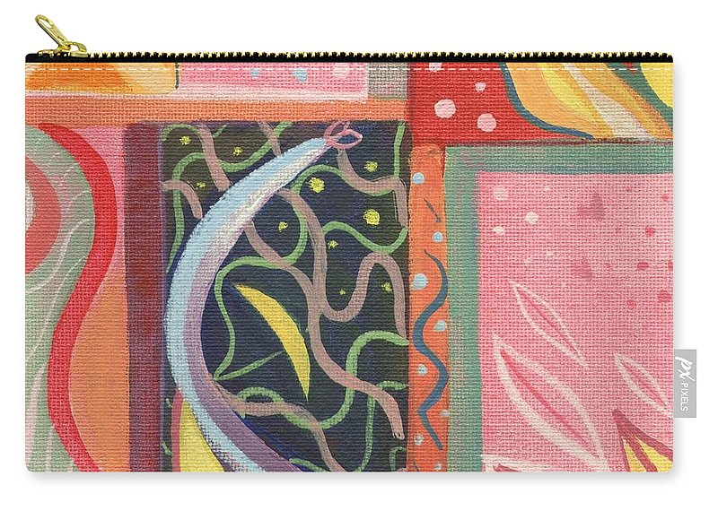 Nature Carry-all Pouch featuring the digital art The Joy Of Design X V I Part 2 by Helena Tiainen
