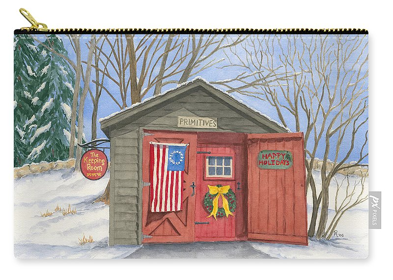 Barn Carry-all Pouch featuring the painting The Keeping Room by Rhonda Leonard