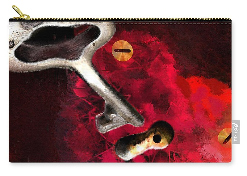 Love Carry-all Pouch featuring the painting The Key To My Heart by Miki De Goodaboom
