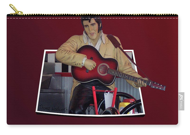 Il Carry-all Pouch featuring the photograph The King Elvis by Thomas Woolworth