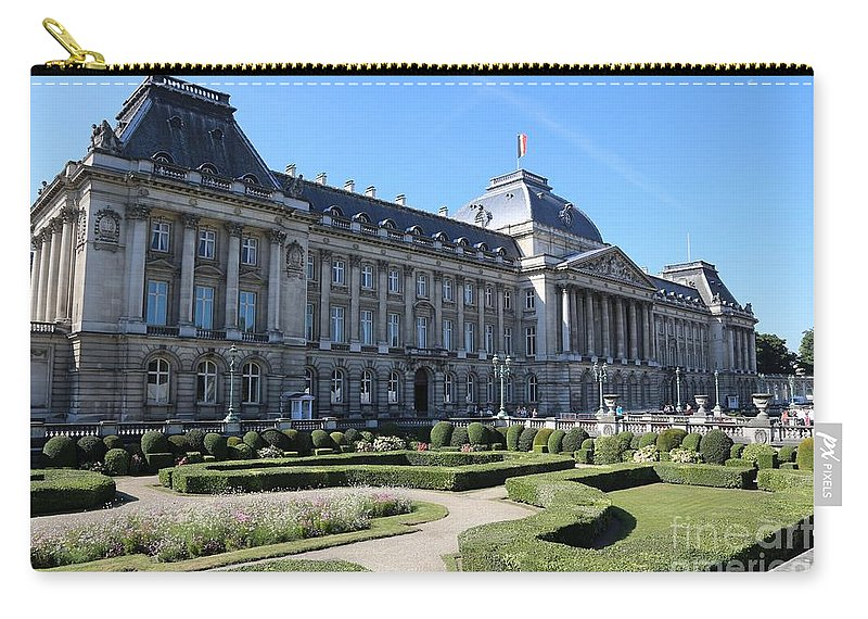 Brussels Carry-all Pouch featuring the photograph The King's Palace In Brussels by Carol Groenen