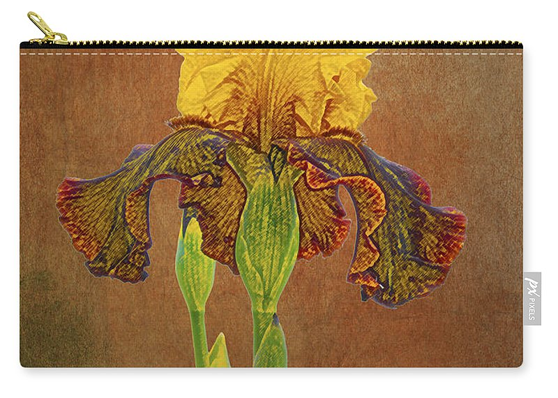 Iris Carry-all Pouch featuring the photograph The Kings Prize Iris by Michael Peychich