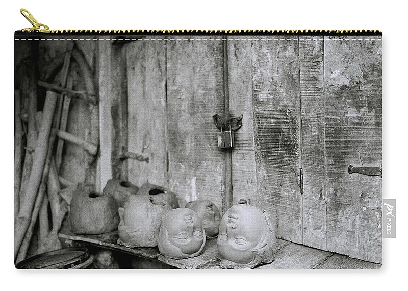 Head Carry-all Pouch featuring the photograph The Kumartuli Workshop by Shaun Higson