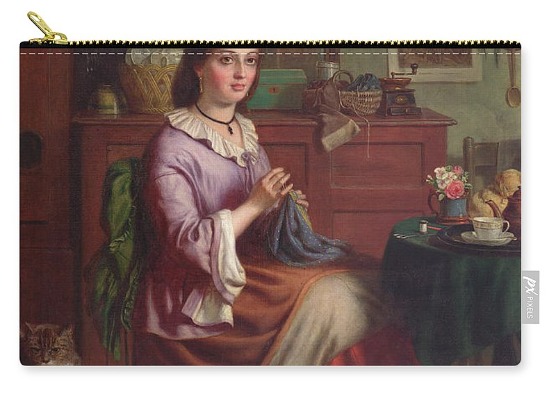 Victorian Carry-all Pouch featuring the painting The Labourers Welcome by Joseph Clark