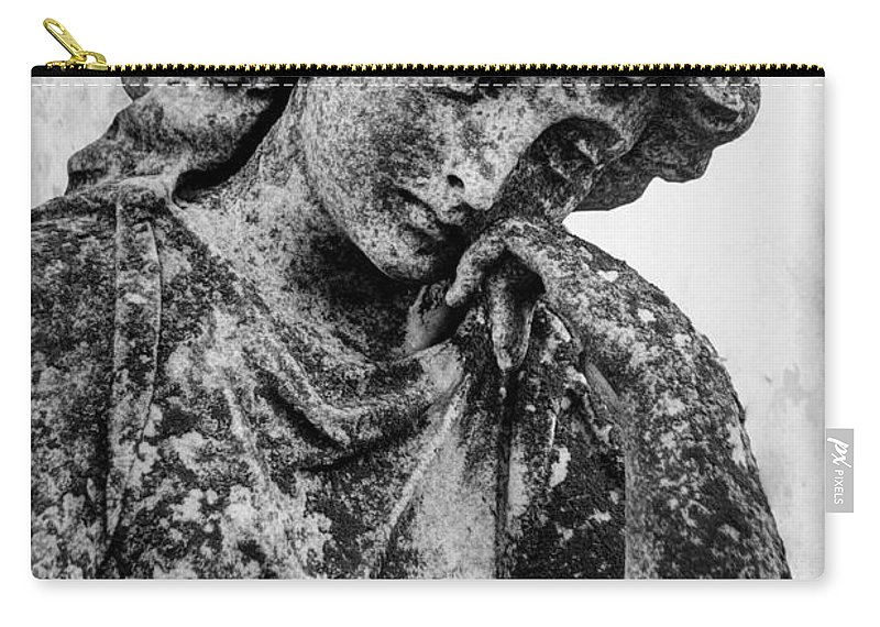 Stone Carry-all Pouch featuring the photograph The Lady In Mourning 03 Bw by J M Lister