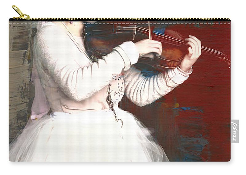Tribal Baroque Carry-all Pouch featuring the photograph The Lady With The Violin by Alice Gipson
