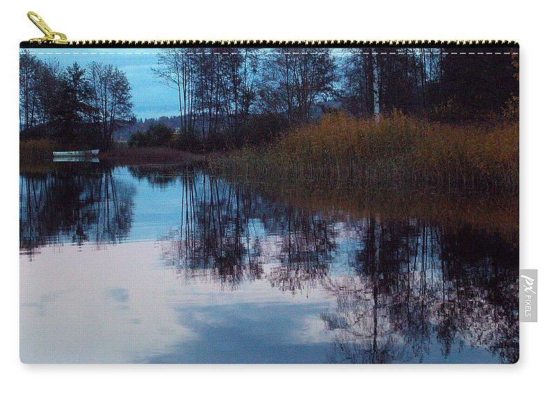 Lake Öresjö Carry-all Pouch featuring the photograph The Lake 2 by Jessica Velasco